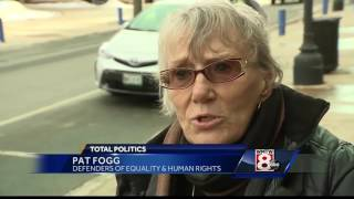 Group protests outside Sen. Collins