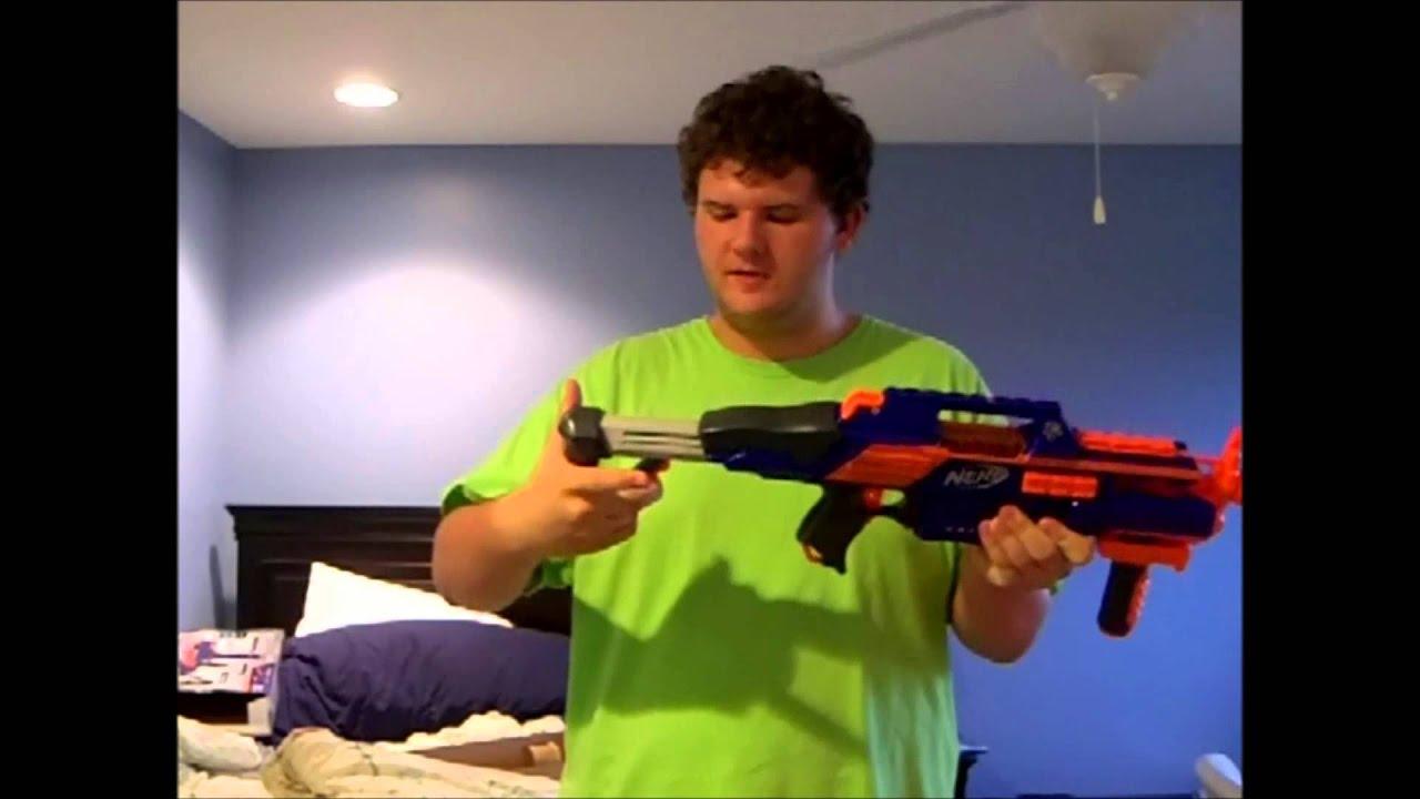 Nerf Gun Review Nerf Elite Rapidstrike Cs 18 Youtube