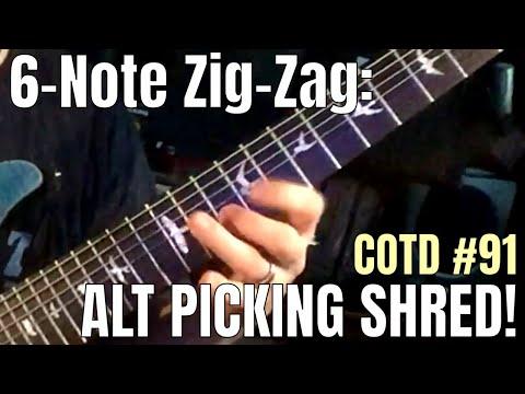 6-Note Zig-Zag (Alt Picking Shred): ShredMentor Challenge of the Day #91