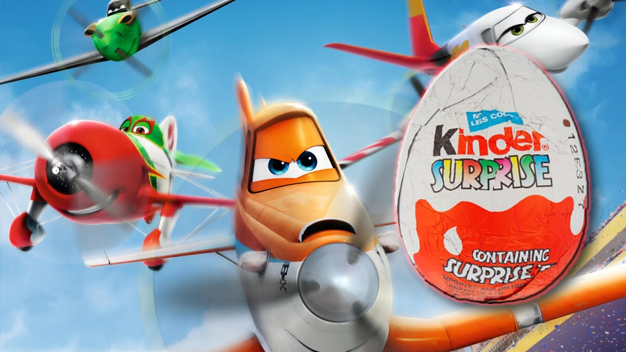 DISNEY PLANES  - Kinder Surprise Egg Collection!  - Kids Animation and Music
