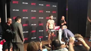 UFC 207: CODY GARBRANDT WEIGH IN