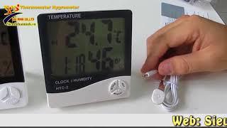 Test máy đo độ ẩm không khí HMHTC 1