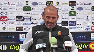 Catanzaro-Catania: mister Pancaro in sala stampa