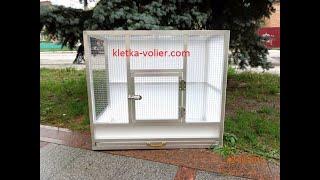 Клетка для волнистых попугаев. Размер 0,8 х 0,7 х 0,4 м.