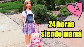 24 Horas siendo mamá de Baby Alive Sara!!! Jugando muñecas y juguetes con Andre para niñas y niños