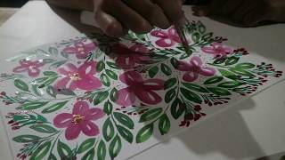 hand painted flowers using watercolor