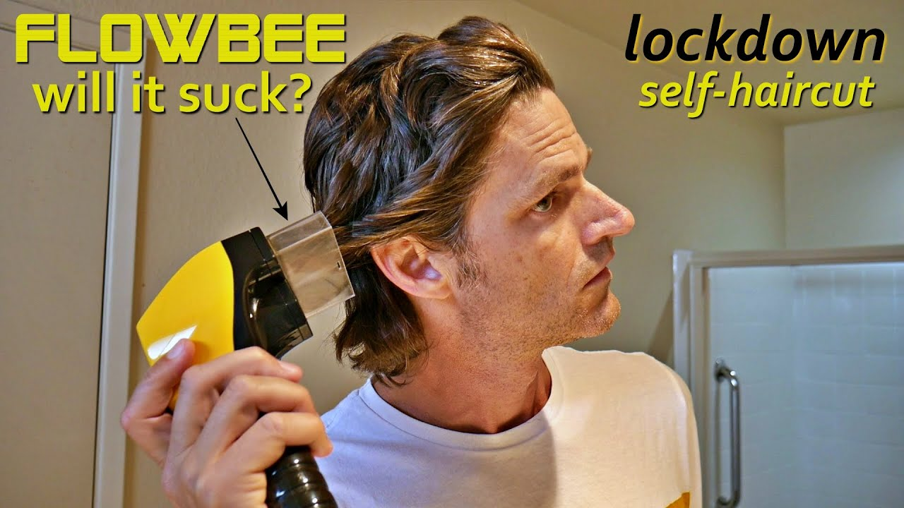 Chopping my hair off with a Flowbee!  Lockdown Self Haircut