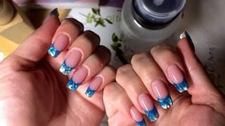 АСМР: маникюр и зимний дизайн ногтей для девочек