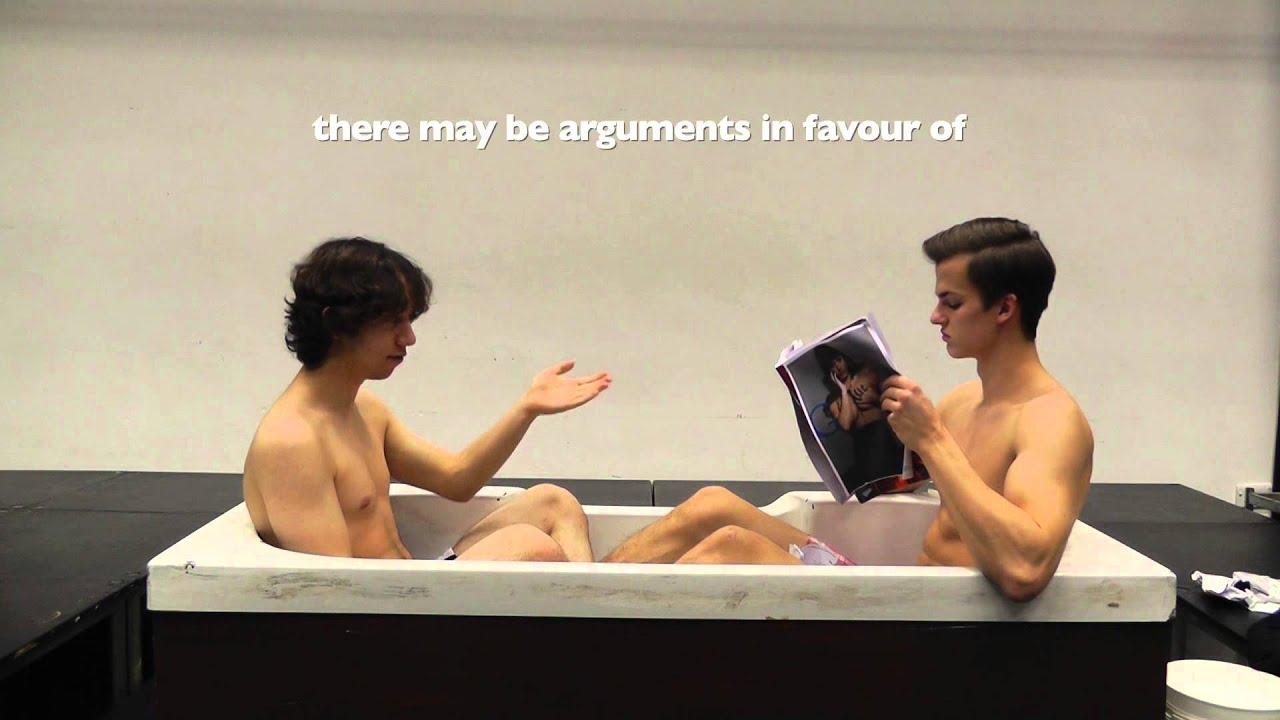 Two Men In A Bath   Sidcot European Drama Club