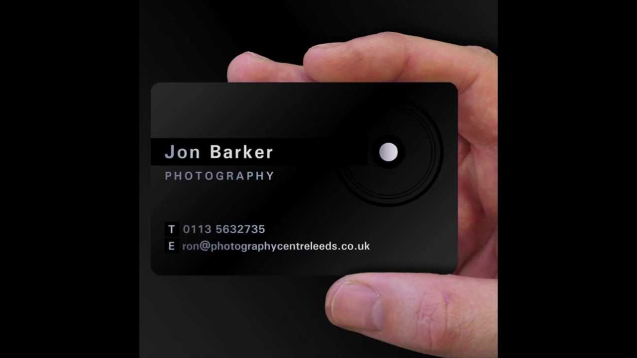 Satin Black Plastic Business Cards - Free Design Service - YouTube