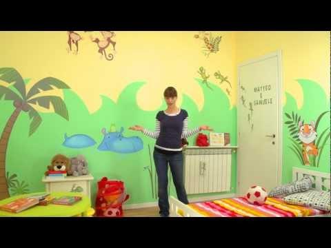 Dipingere un acquario dagli inizi al finale in parete m - Dipingere camera bambini ...