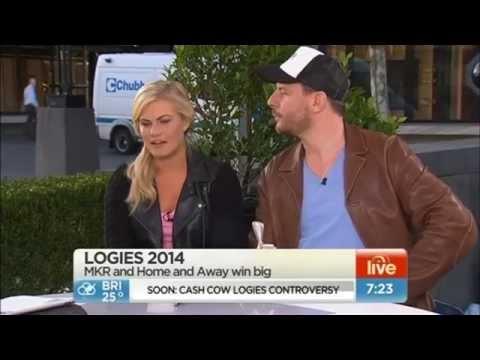 Logie Winners on Sunrise  Bonnie Sveen