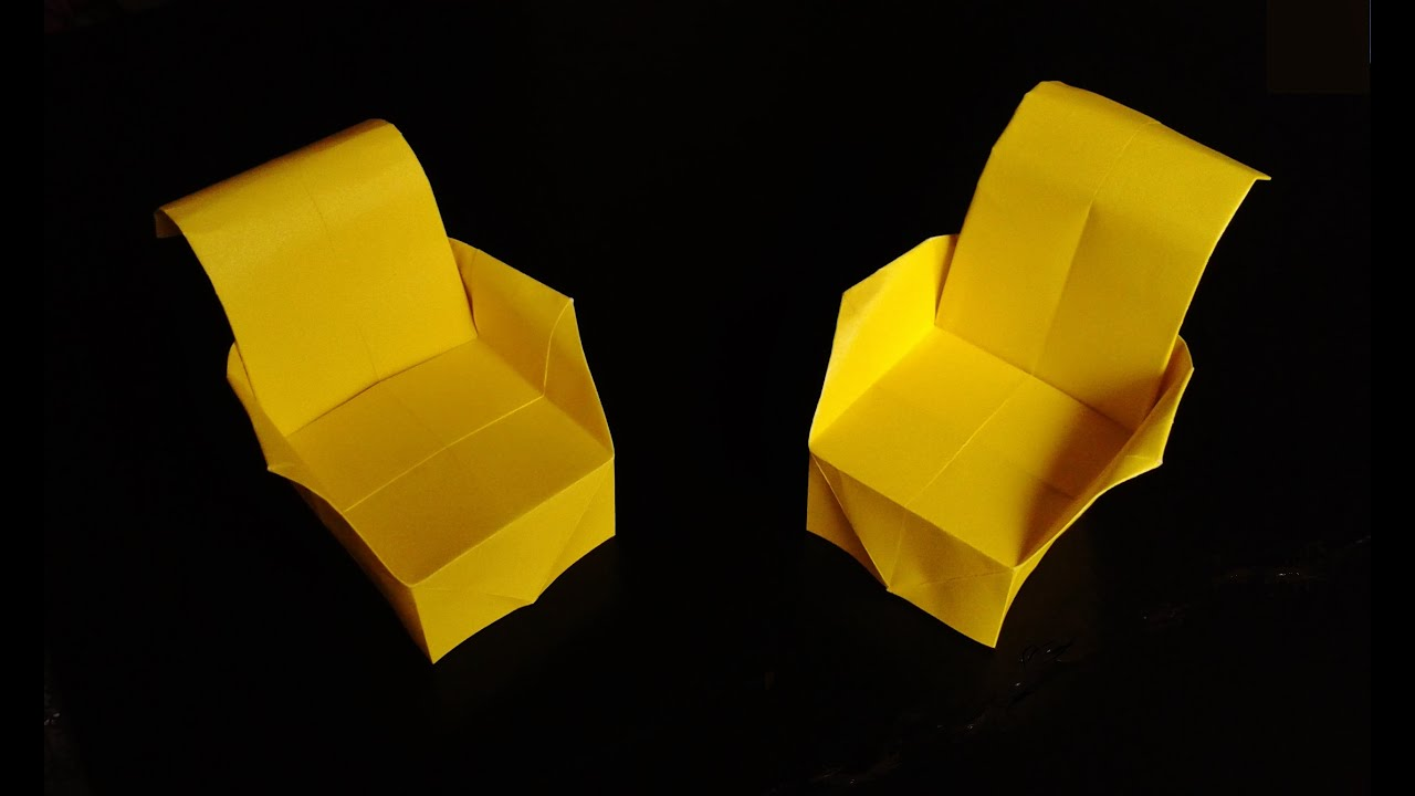 How to make paper armchair origami - YouTube
