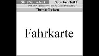 Start Deutsch 1   Teil  2– Thema: Reisen