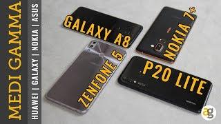 Confronto MEDI ZENFONE 5 vs GALAXY A8 vs P20 lite vs NOKIA 7+