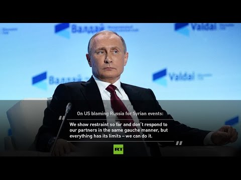 BREAKING Putin: Russia may lose patience over Syria accusations