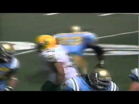 Oregon LB Reggie Jordan sacks UCLA QB Cade McNown 9-16-1995