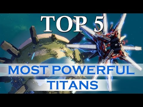 Planetary Annihilation TITANS - Top 5 Most Powerful TITANS