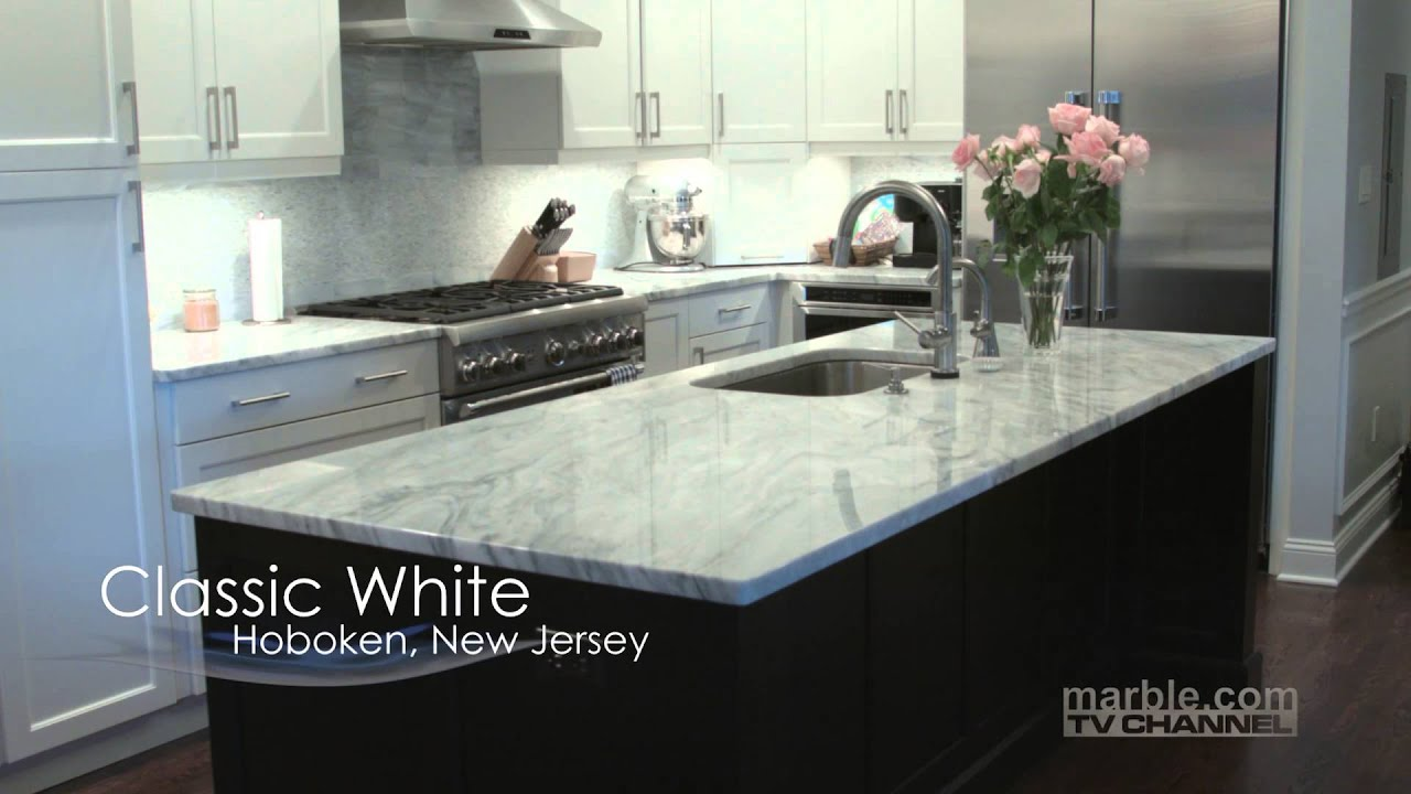 Classic White Quartzite Countertops Part 1 - Marble.com TV ...