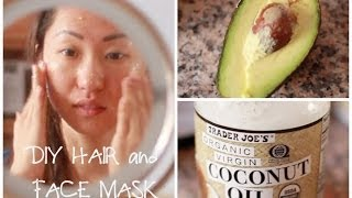 DIY HAIR AND FACE MASK W/INGREDIENTS FROM YOUR OWN KITCHEN!