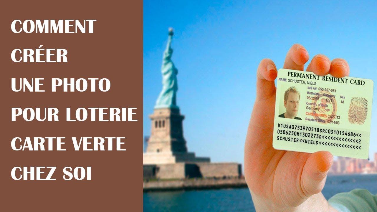 Comment créer des photos pour loterie green card à domicile