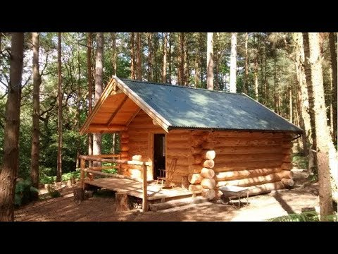 DIY: Building Off Grid Forest Hunting Log Cabin