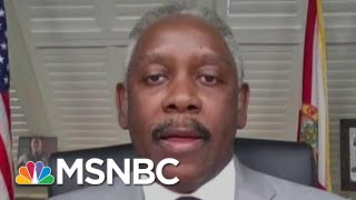 'You're Defending The Opening Of A Theme Park:' Katy Tur Asks Florida Mayor | MTP Daily | MSNBC
