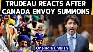 Trudeau reacts after India summons Canada envoy over 'farmer' remarks | Oneindia News