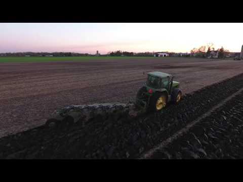 Lois family farm 2017 spring moldboard plowing
