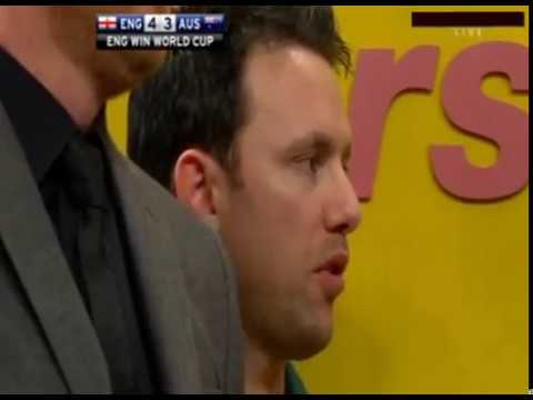 "Paul Nicholson calling Adrian Lewis ""Overrated"" - 2012 PDC World Cup"
