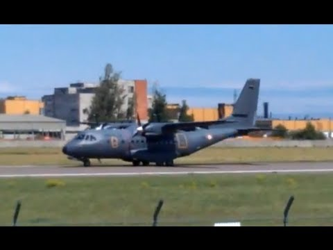 Spanish Air Force CASA CN-235 Landing in tallinn