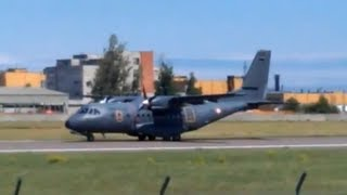 Spanish Air Force CASA CN-235 Landing in tallinn