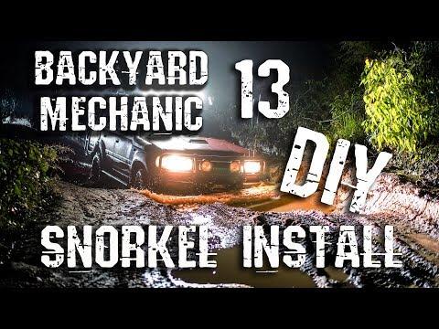 How To Install A Snorkel. Toyota Prado 150. Backyard Mechanic 13