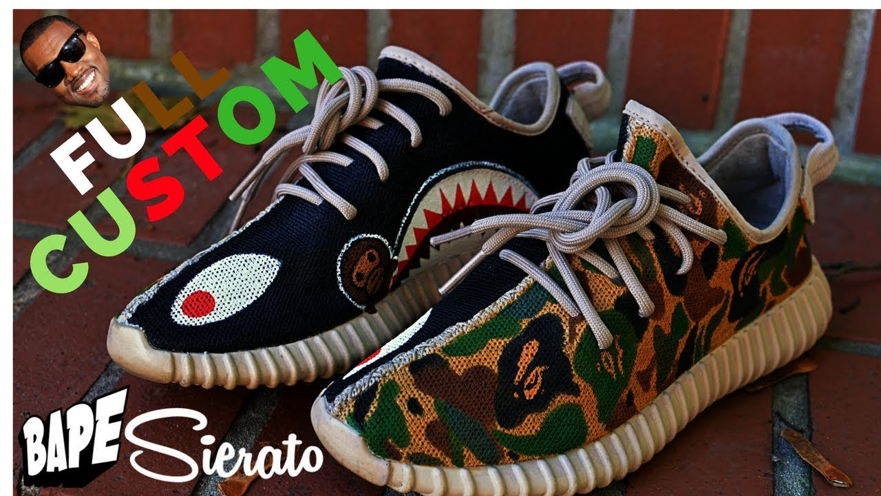 cce8d984432e4 Read more Sierato creating Bape Yeezys!