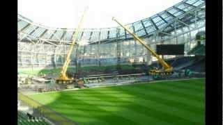 Lady Gaga Stage Build, Aviva Stadium Sept 15th 2012