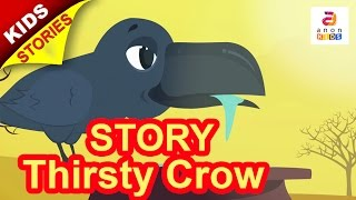 Story for Children English | THE THIRSTY CROW | Short Stories for Kids | Animated Kids Story