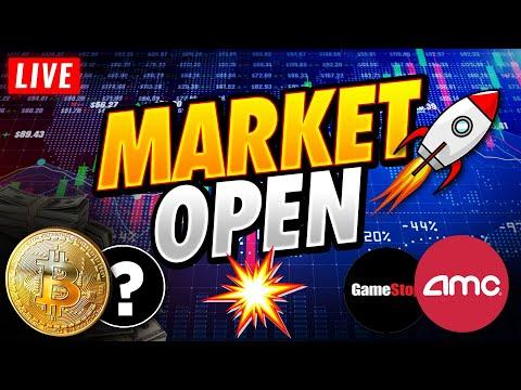 🔴Stock Market Live, Hyper Stocks, and Crypto Go BOOM?🙌💎AMC, GME, Bitcoin, Nasdaq, SP500, TSLA