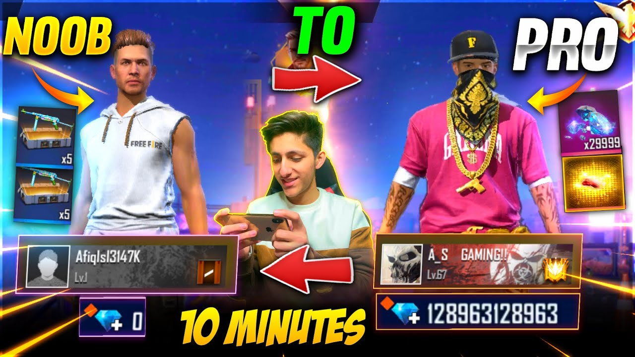 Free Fire New Account To Pro Challenge Buying 30 000 Diamonds In 10 Minutes Garena Free Fire Youtube