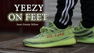 Yeezy 350 V2 Semi Frozen Yellow Close