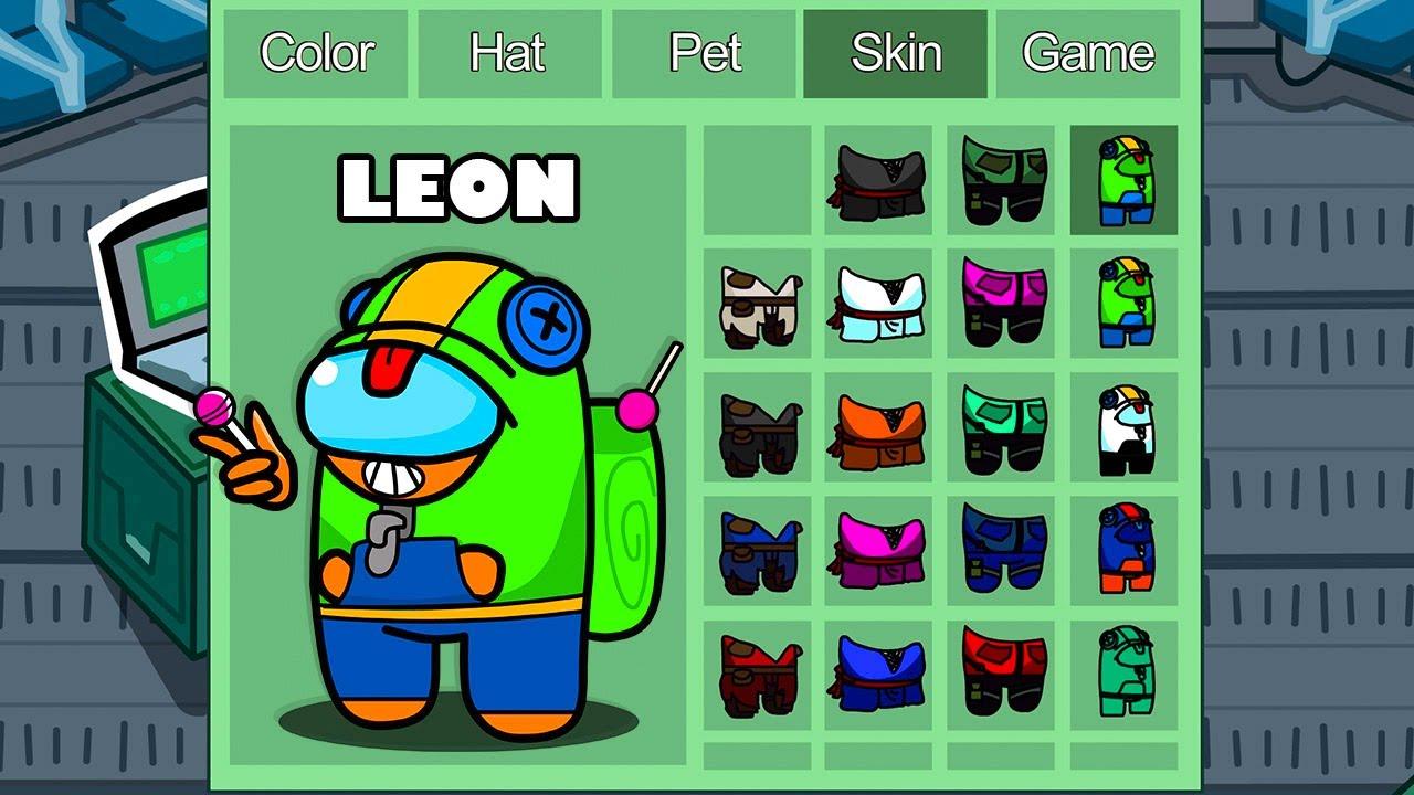 Leon in Among Us  funny animation  1000 iQ impostor