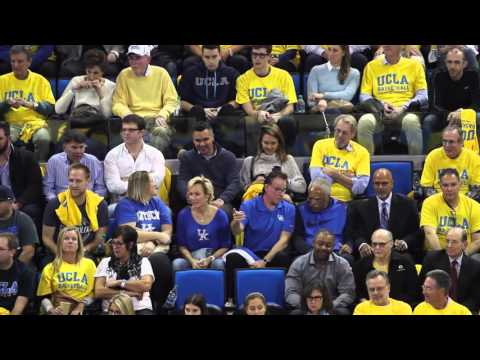 Jessica Alba and husband Cash Warren watch the UCLA Bruins defeat the Kentucky Wildcats