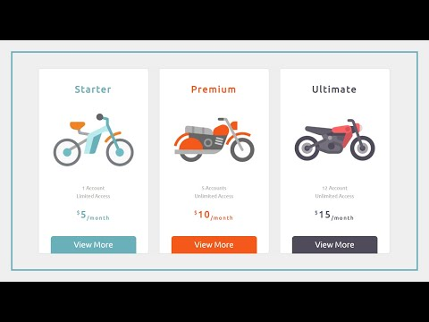How To Creat The Pricing Table Using HTML And CSS