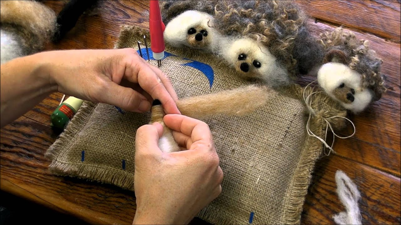 Needle Felting A Hedgehog by Sarafina Fiber Art - YouTube