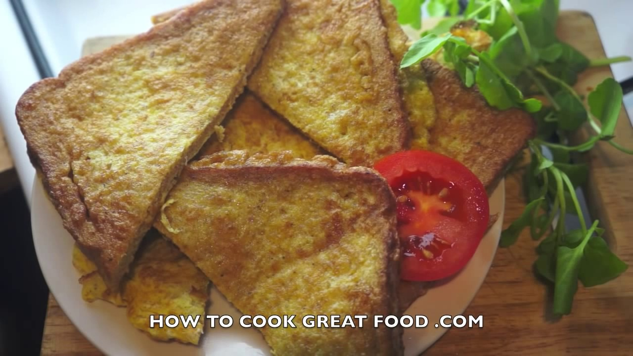 How to fry the bread and egg