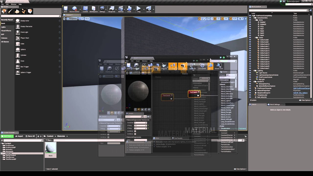 Unreal engine 4 tutorial scale textures youtube malvernweather Choice Image