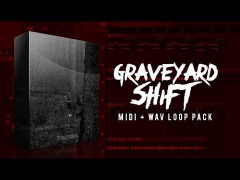 """The """"Graveyard Shift"""" Dark Trap Melody Loop Pack (20 MIDI +"""