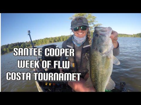 Santee Cooper Bass fishing (pressure from FLW COSTA practice)