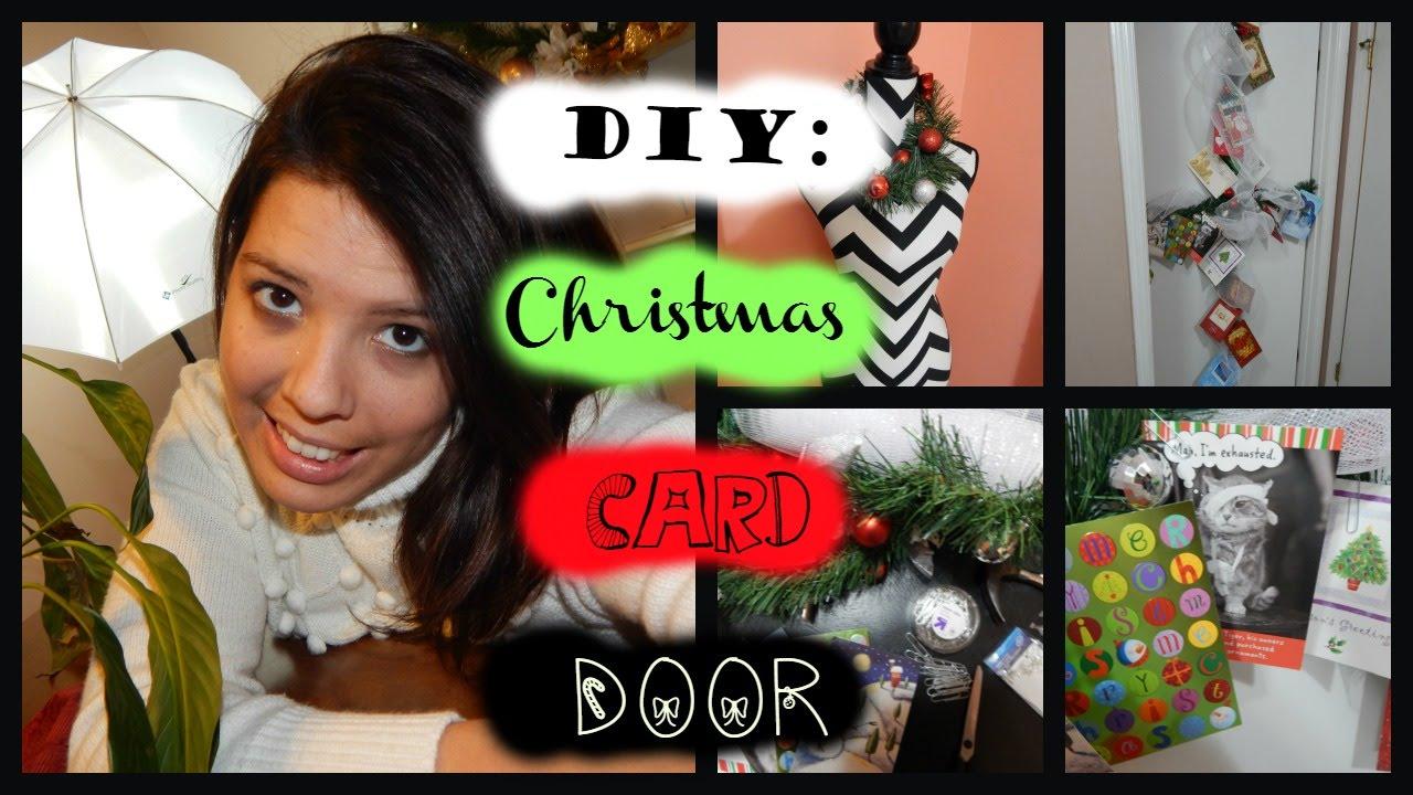 Diy nifty way to display holiday greeting cards easy 10 mins diy nifty way to display holiday greeting cards easy 10 mins m4hsunfo