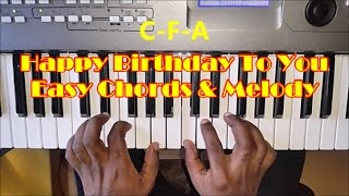 Happy Birthday To You - Easy Piano Tutorial - Chords & Notes