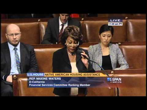 Rep. Waters speaks on Native American Housing Assistance suspension bill